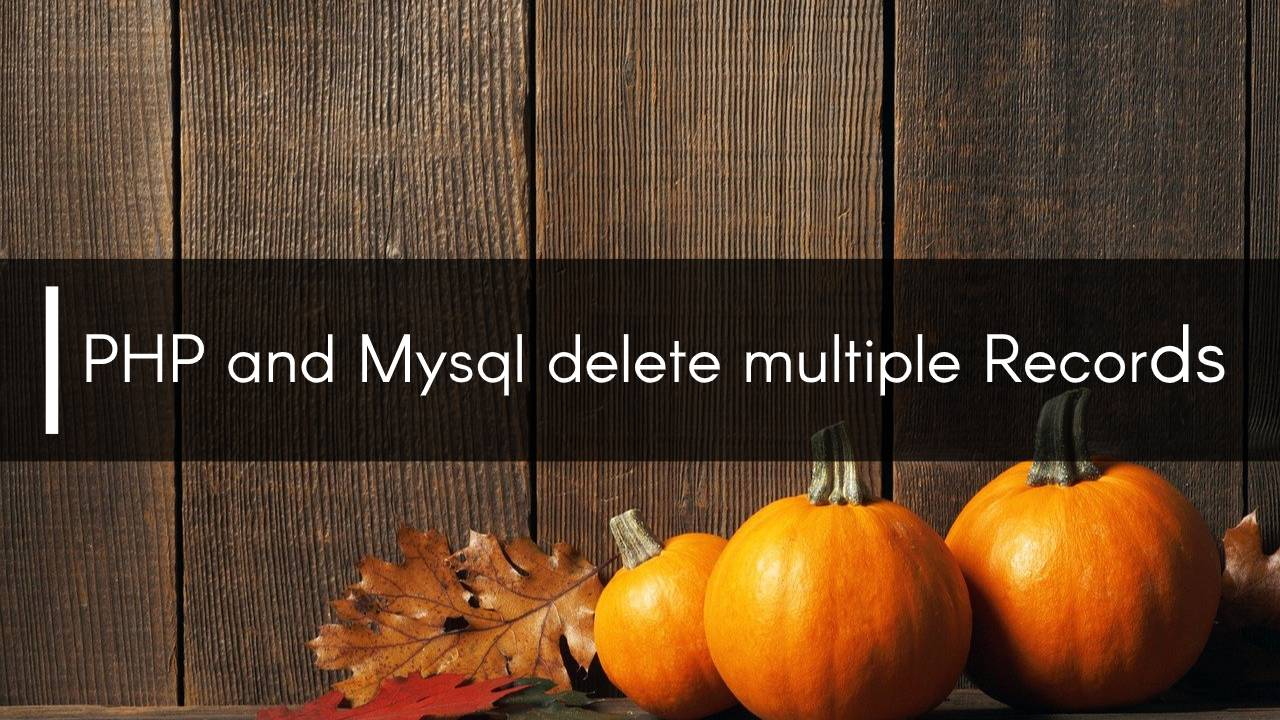 php delete multiple